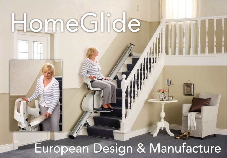 homeglide stair lift ascending stairs