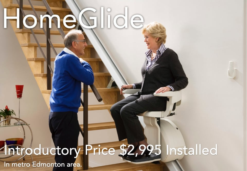 couple have discussion about homeglide stair lift