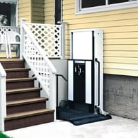 wheelchair lift at porch