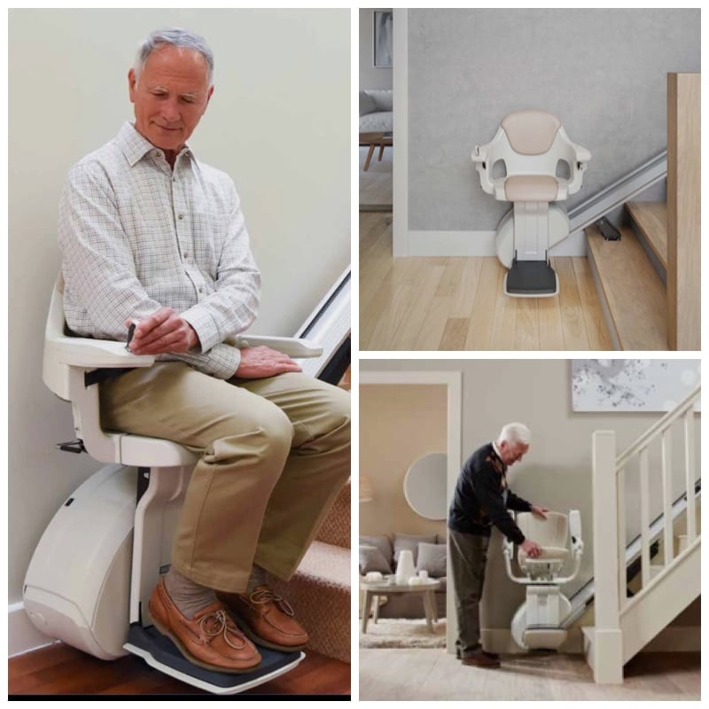 men using stairlifts