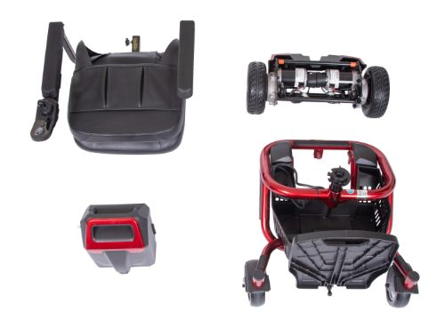 assembly of portable envy power wheelchair