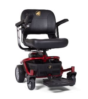 Power wheelchair for easy transport