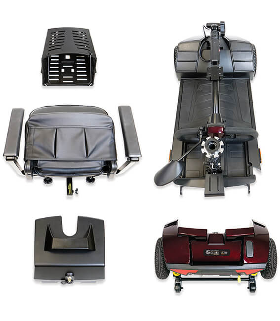 portable travel scooter components
